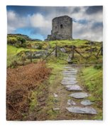 Dolbadarn Castle Snowdonia Fleece Blanket
