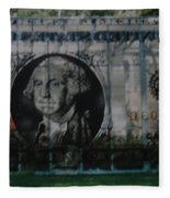 Dollar Bill Fleece Blanket