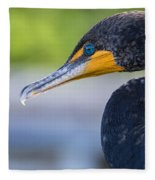 Double-crested Cormorant Fleece Blanket