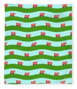 Double Decker Bus Fleece Blanket