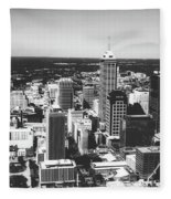 Downtown Indianapolis Fleece Blanket