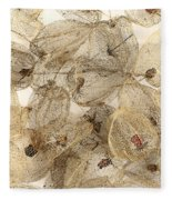 Dried Fruits Of The Cape Gooseberry Fleece Blanket
