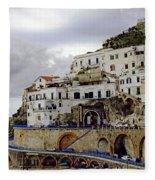 Driving The Amalfi Coast In Italy Fleece Blanket