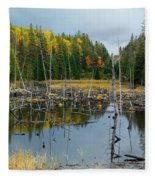 Drowned Trees Fleece Blanket