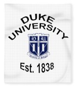 Duke University Est 1838 Fleece Blanket