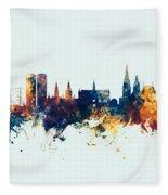 Dundee Scotland Skyline Fleece Blanket