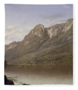 Eagle Cliff At Franconia Notch In New Hampshire Fleece Blanket