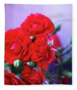 Early Morning Roses Fleece Blanket
