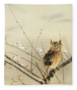 Early Plum Blossoms Fleece Blanket