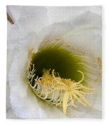 Easter Lily Cactus Fleece Blanket