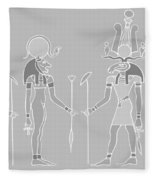 Egyptian Gods And Goddess Fleece Blanket