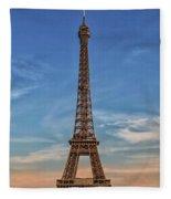 Eiffel Tower In France Fleece Blanket