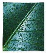 Elephant Ear Leaf Fleece Blanket