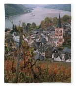 Elevated View Of Bacharach Fleece Blanket