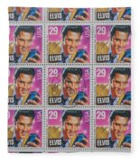 Elvis Commemorative Stamp January 8th 1993 Painted Fleece Blanket