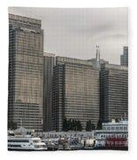 Embarcadero Center Buildings In San Francisco, California Fleece Blanket