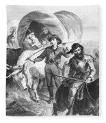 Emigrants To West, 1874 Fleece Blanket