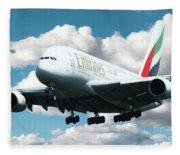 Emirates A380 Fleece Blanket