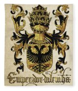 Emperor Of Germany Coat Of Arms - Livro Do Armeiro-mor Fleece Blanket