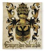 Emperor Of Germany Coat Of Arms - Livro Do Armeiro-mor Fleece Blanket