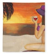 Enjoy The Beach Fleece Blanket