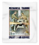 Mechanical Training - Enlist In The Air Service Fleece Blanket