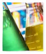 Erlenmeyer Flasks In Science Research Lab Fleece Blanket