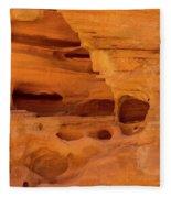 Eroded Sandstone Valley Of Fire Fleece Blanket