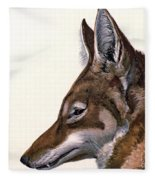 Ethiopian Wolf, Endangered Species Fleece Blanket
