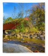 Everett Covered Bridge  Fleece Blanket