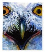 Eyes Of Owls No. 15 Fleece Blanket