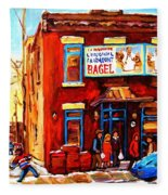 Fairmount Bagel In Winter Fleece Blanket
