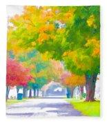 Fall In Holly Hill Fleece Blanket