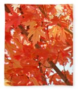 Fall Trees Colorful Autumn Leaves Art Baslee Troutman Fleece Blanket
