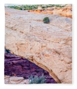 famous Mesa Arch in Canyonlands National Park Utah  USA Fleece Blanket