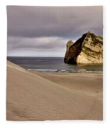 Farewell Spit New Zealand Fleece Blanket