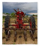 Farmall Tractor Fleece Blanket
