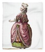 Fashion: French, 1778 Fleece Blanket