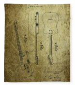 Fender Guitar Patent From 1951 Fleece Blanket