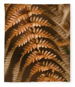Fern Abstract Fleece Blanket