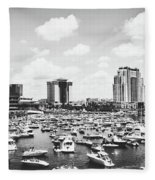 Festive Tampa Bay Fleece Blanket