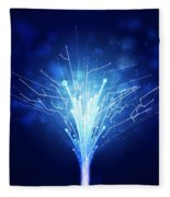 Fiber Optics And Circuit Board Fleece Blanket