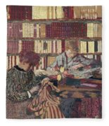 Figures In An Interior Fleece Blanket