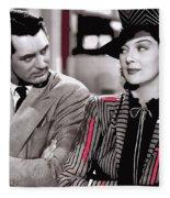Film Homage Cary Grant Rosalind Russell Howard Hawks His Girl Friday 1940-2008 Fleece Blanket
