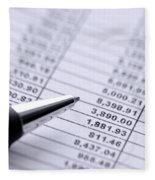 Finances Fleece Blanket