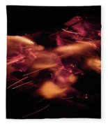 Fire Abstract  Fleece Blanket