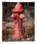 Fire Hydrant #16 Fleece Blanket