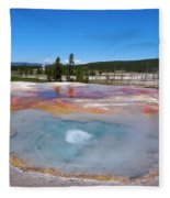 Firehole Spring In Yellowstone National Park Fleece Blanket