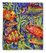 Fish Tales IIi Fleece Blanket