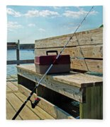 Fishin' Pole Fleece Blanket